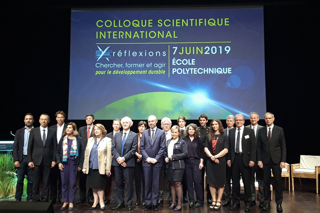 Les fondateurs nam.R au Colloque Scientifique International de l'Ecole polytechnique