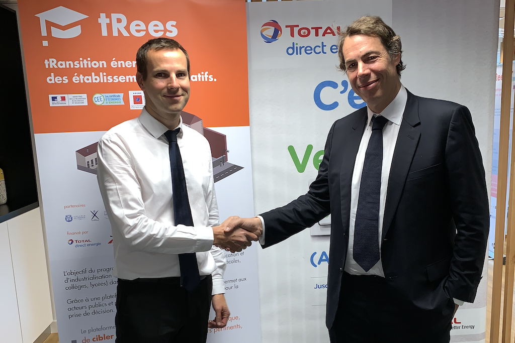 Mathieu Rochard, Total Direct Energie, partenaire du programme tRees