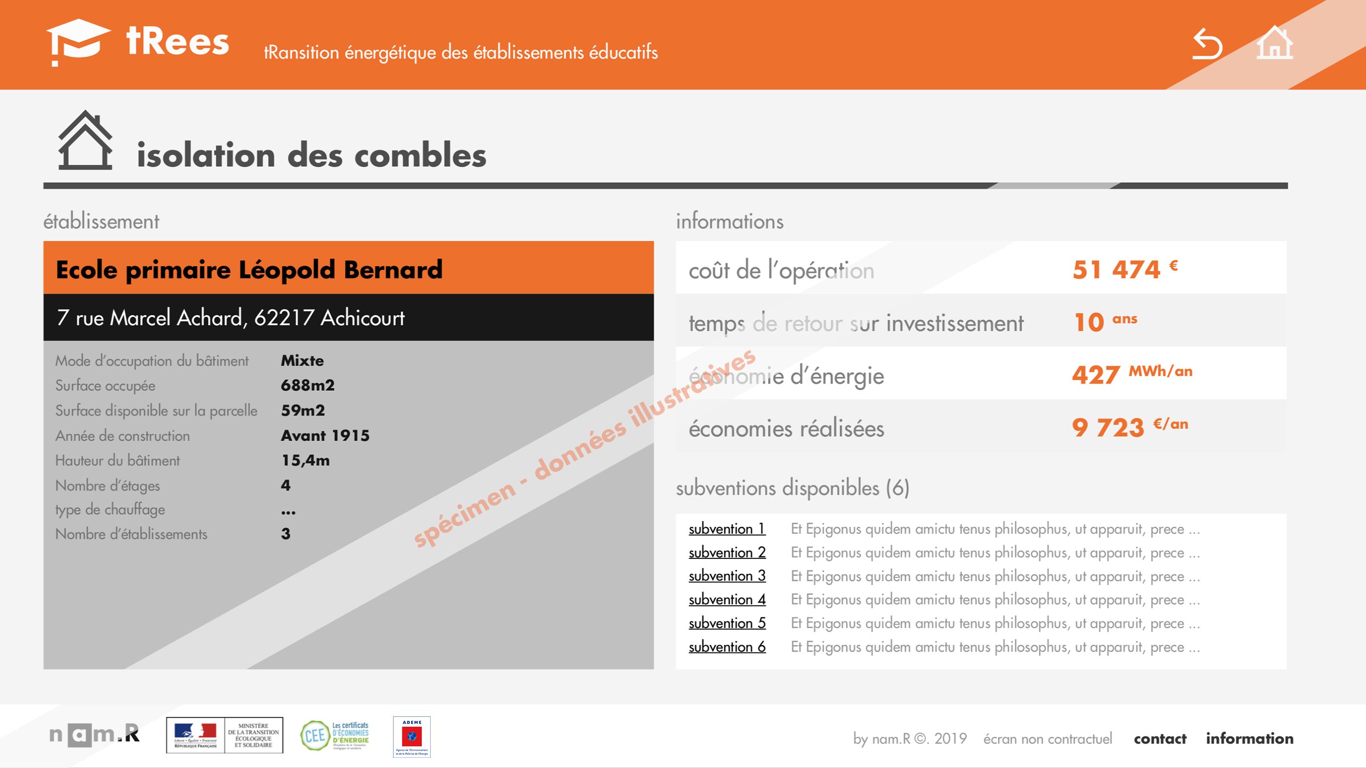 Exemple de plateforme tRees 6/6